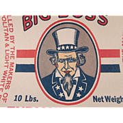 SALE Big Boss Paper Enriched Flour Bag with Uncle Sam Not Used