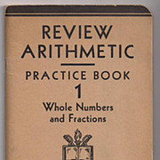 SALE 'Review Arithmetic Practice Book 1' United States Armed Forces Institute paper back Book