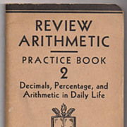 SALE 'Review Arithmetic Practice Book 2'  United States Armed Forces Institute paper back Book