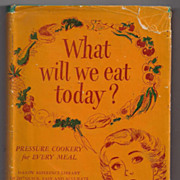 SALE 'What Will We Eat Today? Pressure Cooker Cookbook' Hard Back Book