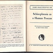 'Schizophrenia as a Human Process'  hard back Book First Edition