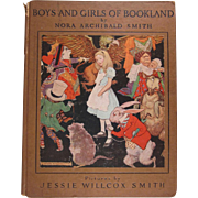 SALE Boys and Girls of Bookland Hard Back Book Jessie Willcox Smith Illustrations