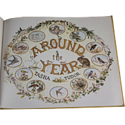 SALE Around the Year Hard Back Book by Tasha Tudor with Incredible Pictures