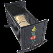 "SALE Renwal No. 120 3/4"" Cradle Crosse & Blackwell Design Dollhouse Furniture"