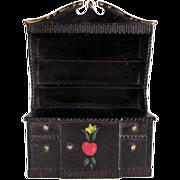"SALE Renwal No. 52 3/4"" China Cabinet Crosse & Blackwell Design Dollhouse Furniture"