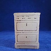 "Strombecker 3/4"" Apartment Stove Cream Dollhouse Furniture"