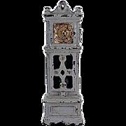 "SALE Kilgore 1/2"" Cast Iron Grandfather Clock Dollhouse Furniture"