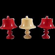 "SALE Jaydon 3/4"" Hard Plastic Table Lamp Dollhouse Accessory Hard to Find"