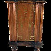 """SALE Strombecker 1"""" 1936 Walnut Floor Radio Dollhouse Furniture"""
