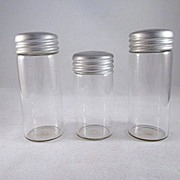 Vintage Glass Canisters for Dolls or Dollhouse Accessories Set of 3
