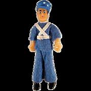 "Flagg 3/4"" Policeman Dollhouse Doll"