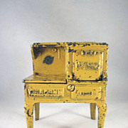 "Arcade 1"" Cast Iron Hotpoint Stove Dollhouse Furniture"