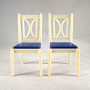 """SALE Ideal 3/4"""" Pair of Kitchen Chairs Dollhouse Furniture"""