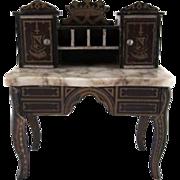 "SALE Biedermeir 1"" Marble Top Desk Dollhouse Furniture"