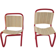 """Ardee 3/4"""" Plastic Pair of Kitchen Chairs Dollhouse Furniture"""