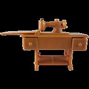 "SALE Renwal 3/4"" No. 89 Tan Sewing Machine Dollhouse Furniture HTF"