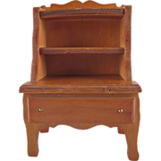 "Wanner, Grand Rapids 1-1/2"" Bookcase Dollhouse Furniture"