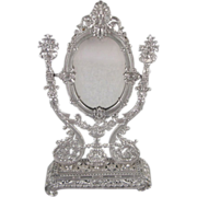 SALE Ornate, Soft Metal Dresser Mirror Doll Accessory