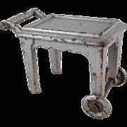 "SALE Kilgore 1/2"" Cast Iron Tea Cart in Gray Dollhouse Furniture"