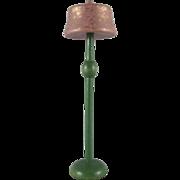 "Strombecker 1"" 1931 Lavender Bedroom Floor Lamp Dollhouse Accessory"