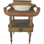 Early Wash Stand with Bowl Dollhouse Furniture