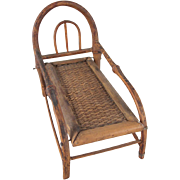 "Made in Japan 1"" Bamboo Chaise Lounge Dollhouse Furniture"