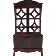 """Ideal 3/4"""" China Cabinet Dollhouse Furniture"""