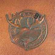 P.A.P Loyal Order of Moose Pig Skin Folder/Wallet