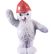 SALE Snowbaby Snowman with Red Hat Traffic Cop