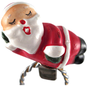 Made in Japan Ceramic Santa Clip Ornament