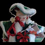 SALE Christmas Shopper Table Top Decoration Crepe Paper +