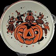 SALE U.S. Metal Toy Tin Litho Halloween 'Party' Tambourine