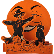 Beistle Halloween 3D Fold Out Scarecrow and Moon Decoration