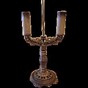 SALE Art Deco Cast Iron Table Lamp
