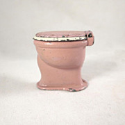 "TootsieToy 1/2"" Lavender & White Toilet Dollhouse Furniture"