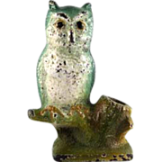 Hubley Cast Iron Owl Pencil Holder