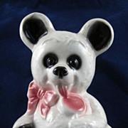 SALE Royal  Copley White Bear with Lollipop Planter HTF