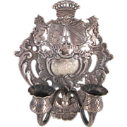 Rococo Silver 2 Light Candle Sconce with  English Import Hallmarks