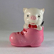 SALE Celluloid Pig in A Shoe Tape Measure Made in Japan