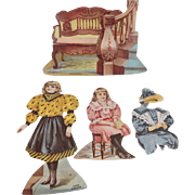 SALE Lion Coffee The Hall Paper Dolls 4 piece Trade Card Set Complete