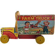 SALE Fisher-Price 1954 Campbell's Farm Truck Pull Toy
