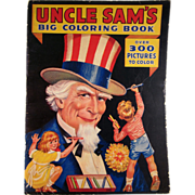 Uncle Sam's Big Coloring Book Not Used 1936