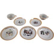 Walt Disney Enterprises Three Little Pigs Tea Set 7 Pieces