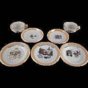 SALE Walt Disney Enterprises Three Little Pigs Tea Set 7 Pieces
