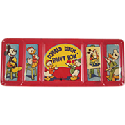 WDE Donald Duck paint Box Tin Litho