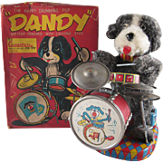 Cragstan, Alps Battery Operated Dandy the Happy Drumming Pup in the Original Box Works