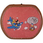 SALE Walt Disney Productions Mickey Mouse Aviator Toy Suitcase