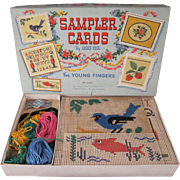 Sampler Cards by Anne Orr For Young Fingers in Original Box 1953 Complete