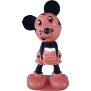SALE Figural Mickey Mouse hard Plastic Toothbrush Holder