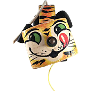 SALE Fisher Price #654 1961 Tawny Tiger Pull Toy